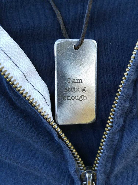 I am strong enough dog tag