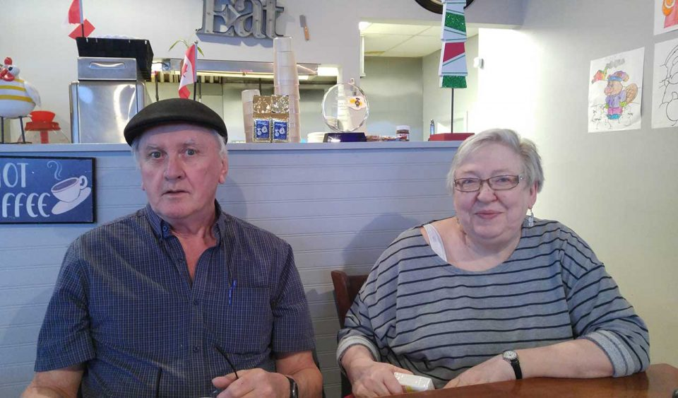 My parents at breakfast