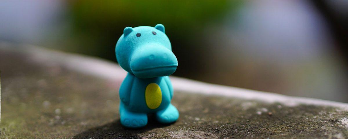 Plastic Toy Hippo