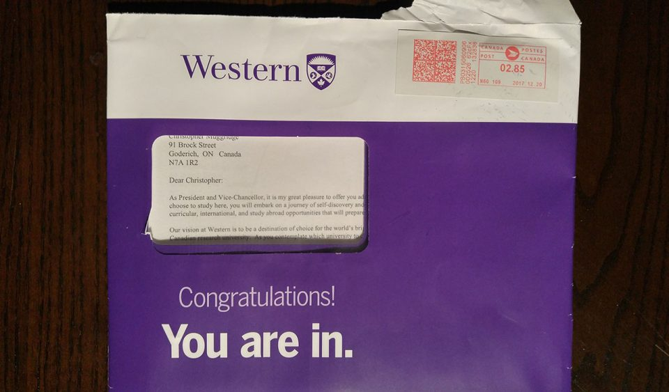 Western University acceptance package