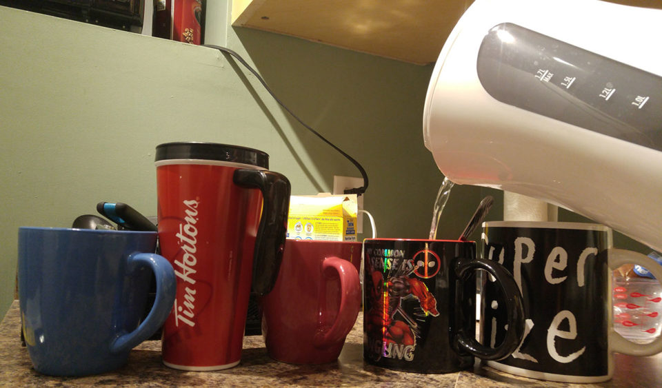 In the coffee cup line up