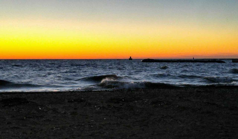 Goderich beach sunset