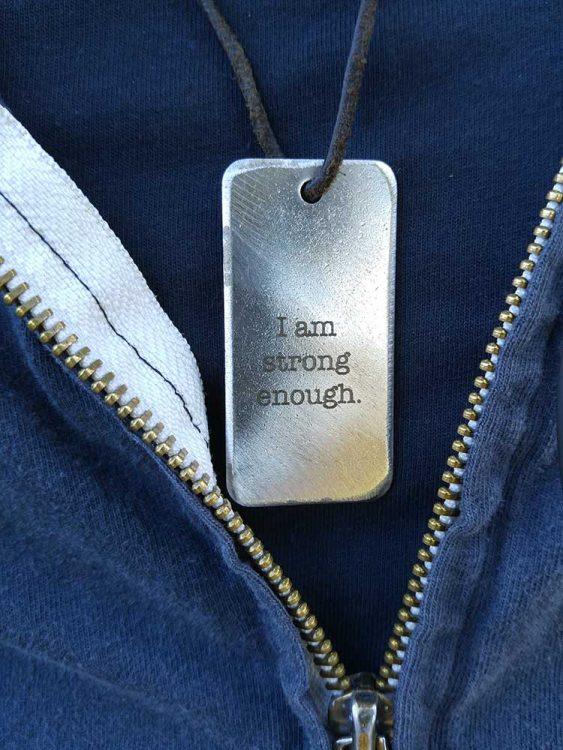 I am strong enough dog tag