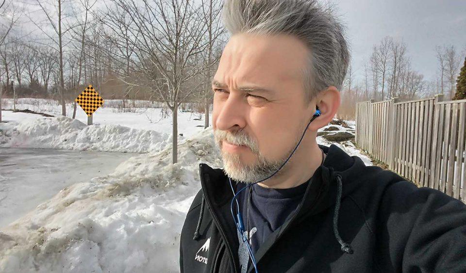 Solemn winter walk