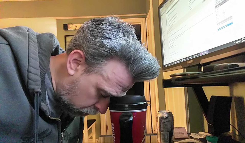 Asleep on coffee